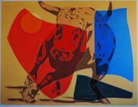 Pop Art - Running Bull - Oil On Linen